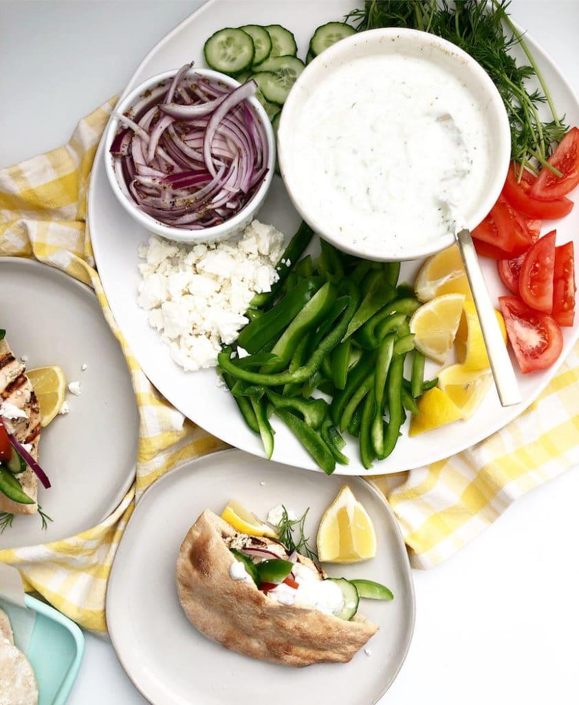 Chicken Pita With Tzatziki