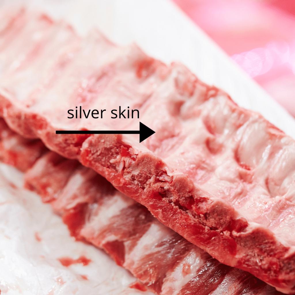 silver skin on ribs